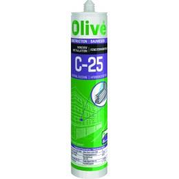 Cartouche de silicone blanc spécial menuiserie 300 ml -OLIVÉ.  S15823
