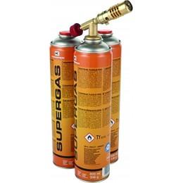 """LAMPE A SOUDER AVEC 3 CARTOUCHES DE GAZ 600ML FILETAGE 7/16""""-05896 KEMPER -058"""