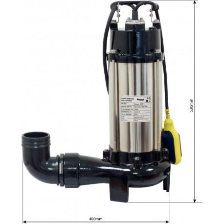 Pompe immergée automatique avec couteau -1800W
