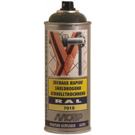 AEROSOL Peintures Acrylique - GRIS ARDOISE  Brillant RAL 7015  MOTIP - MO07148