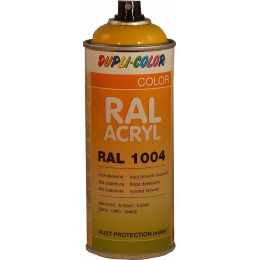 Peinture  RAL ACRYL   RAL 1004 jaune or   400 ml  Dupli Color - MO349461