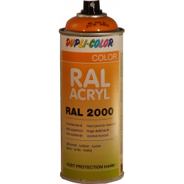 Peinture RAL ACRYL 2000 Jaune Orange brillant. 400ml  DUPLI COLOR - MO349539
