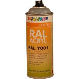 Peinture RAL  ACRYLIQUE  7001 Gris ARGENT 400 ml DUPLICOLOR - MO366178A