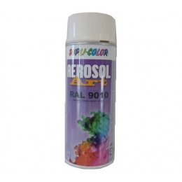 Aérosol ART COLOR  RAL 9010   blanc Brillant  400 ml  Duplicolor - MO733130