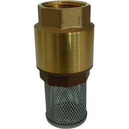 Crépine laiton avec clapet pour GASOIL  tuyau diamètre 19 mm - S08539