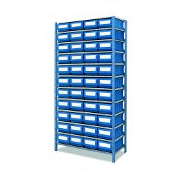 Étagère métallique avec 44 casiers  de rangement - S09052