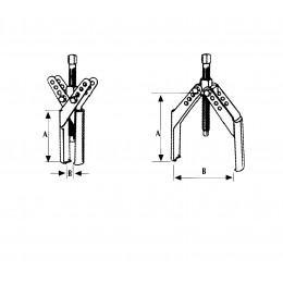 Extracteur exterieur autoserrant 2 positions - S09212