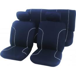Housse de siege noire 100 % polyester taille universelle compatible airbags l... - S09610