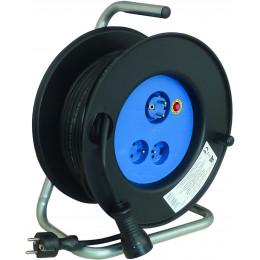 Enrouleur électrique Major 25M 3G 1.5 mm 2 prises 3000 watts - S01520