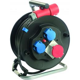 Enrouleur électrique 20 mètres câble 5G 2,5 mm² 400 V - S01590