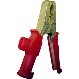 Pince de démarrage rouge en bronze série lourde 600 A  180mm - S04169