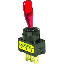 Interrupteur lumineux  a levier 12 volts - S04263