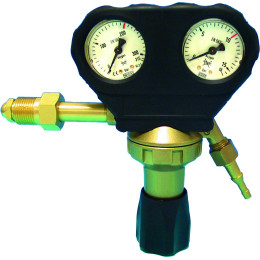 Détendeur de pression capote oxygène ece CHARLES DAVE   jet control - S05612