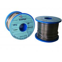 Bobine fil d'étain 40% 250 gr diamètre 15/10 mm - S05616