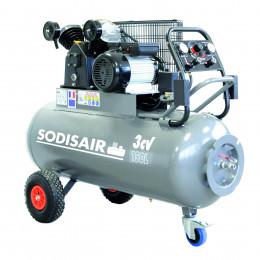Compresseur a courroie sur roue 150 Litres  230V  SODISAIR - S11270