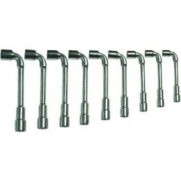 Jeu de 9 clés à pipe débouchées 8 a 19 mm  DRAKKAR TOOLS - S12274
