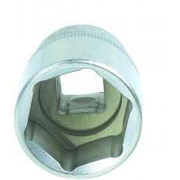 Douille de 19 mm carré 1/2 pouce 6 pans DRAKKAR TOOLS - S12363