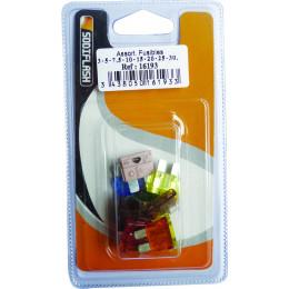 Lot de 10 fusibles enfichables 10 A à 30 Ampères AUTO - S16193
