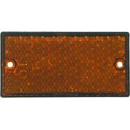 Catadioptre rectangulaire à fixer - Couleur : Orange - S16208