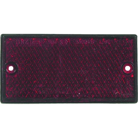 Catadioptre rectangulaire à fixer - Couleur : Rouge - S16212