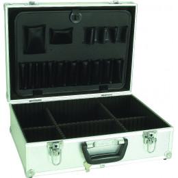 Valise de rangement compartimentée  argentée aluminium - S10513