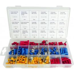Coffret de 280 cosses rouge, bleu, jaune SODELEC - S14096
