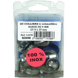 ASSORTIMENT 20 COLLIERS INOX - S14196