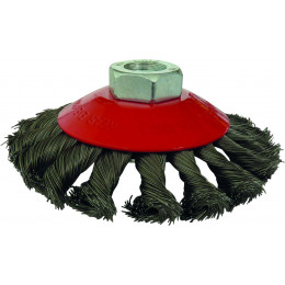 Brosse coupe meches torsadees pour meuleuse 115 mm - S15500