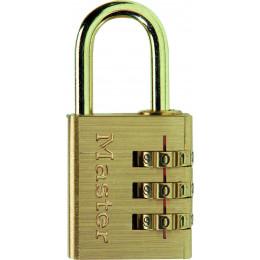 Master Lock Cadenas en aluminium 3 Chiffres Laiton 30 mm - S15643