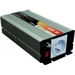 Convertisseur 600 watts 12 volts CONTINU/ALTERNATIF  SODELEC- S05118
