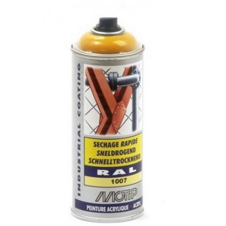 AEROSOL Peintures Acrylique -Jaune Chrome Brillant RAL 1007 - MO07076