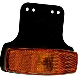 Feu de position orange sur semelle droite 115 x 42 mm - S16177