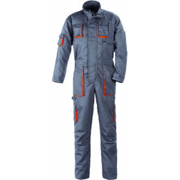 Combinaison de travail 1 zip - gris/orange S18004