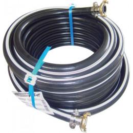 KIT TUYAU PVC NOIR POUR AIR COMPRIME et liquide  - 20 BARS - 19x26 - 25M -S06016