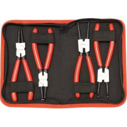 4 PINCES À CIRCLIPS -ACIER- EN POCHETTE   Drakkar tools -S13783