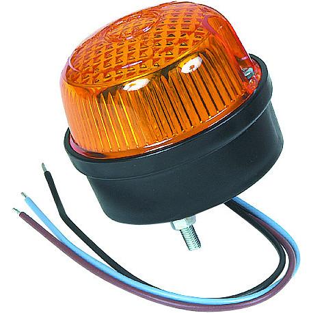 Mini flash led orange signalisation 12/24 vcc IP65-S16147