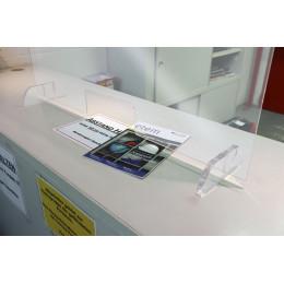 Barrière de protection plexiglas L90CM X H60CM -S66007