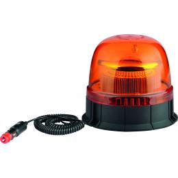 GYROPHARE LED DOUBLE FLASH 12/24V BASE MAGNETIQUE 45 LEDS S16305