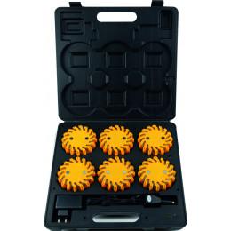MALLETTE RECHARGEABLE 6 BALISES FLASH LED S17929