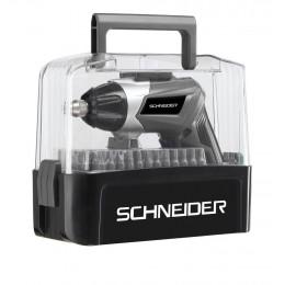 TOURNEVIS VISSEUSE ELECTRIQUE BATTERIE SCHNEIDER +  COFFRET 54 embouts  3 Volts 6 - Chargeur USB  S50513