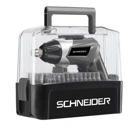 COFFRET VISSEUSE  SCHNEIDER 3,6V avec 54 embouts  Chargeur USB  S50513
