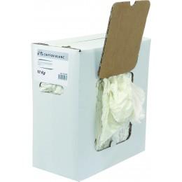 Chiffons blancs  carton 10 kg - S14573