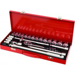 Coffret métallique de douilles 1/2 24 pieces DRAKKAR  TOOLS  - S10756