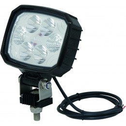PHARE TRAVAIL  CARBONE Ultra Leger 6 LED  - 12W 1500 lm - S17030