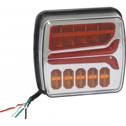 FEU ARRIERE  DESIGN LED ROUGE/ORANGE  4 FONCTIONS GAUCHE SODIFLASH -16050