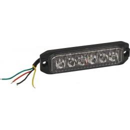 FEU PÉNÉTRANT ORANGE 6 LED -18W -12/24V- SODIFLASH-16033