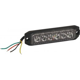 FEU PÉNÉTRANT ORANGE 6 LED -18W -12/24V- SODIFLASH-16033