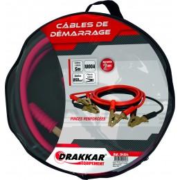 Jeu de cables de démarrage pinces laitons renforcées 1200 Ampères - S04164