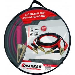 Jeu de cables de démarrage cuivre souple pinces laitons 600 Ampères drakkar- S04132