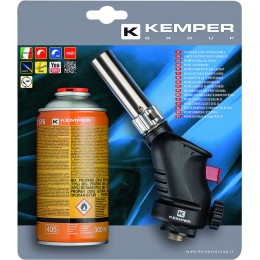 LAMPE A SOUDER ALLUMAGE AUTO AVEC CARTOUCHE GAZ 300ML KEMPER 05692